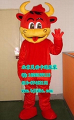 出售北京灵动卡通服装卡通人偶服饰红牛