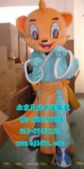 出售北京灵动卡通服装,毛绒人偶服饰,虹猫