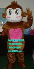 出售北京灵动卡通服装,毛绒人偶服装,悠嘻猴