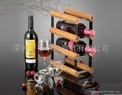 6瓶裝組裝式紅酒架葡萄酒櫃