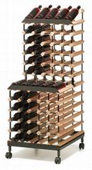 90瓶装可移动式红酒二层展架