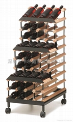48瓶装可移动式红酒三层展架