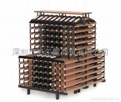 1米背对背梯形商用红酒展示架