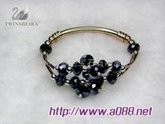 水晶玻璃宝石手链