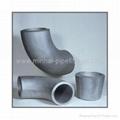 carbon steel buttweld pipe fittings elbow tee reducer cap bend flange 5