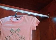 酒店專用感應衣櫃挂衣杆燈