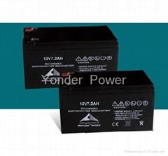 SMF lead acid battery 12v7.2ah
