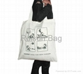 Jute shopping bag tote bag