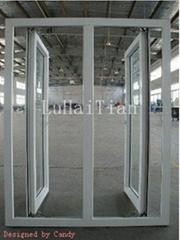 pvc window:double casement window