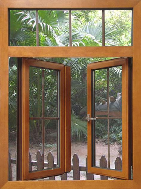 solid wooden window 1