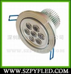 7W大功率LED天花灯