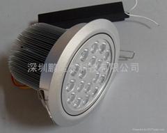 圓形白光18W大功率LED天花燈