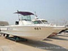 fiberglass fishing yacht