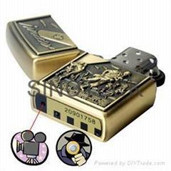 4GB Army Bronze Spy DVR Lighter DV Cam Lighter Audio Video SPY LIGHTER