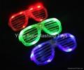 Light up /flashing shutter eyeglasses