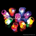 Light up Flashing plastic jelly rings