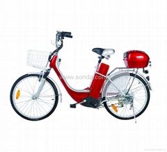 electric bike, lead acid battery, steel frame