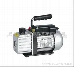 Single and double stage rotary vane vacuum pumps