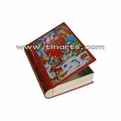 Book-shaped tin box
