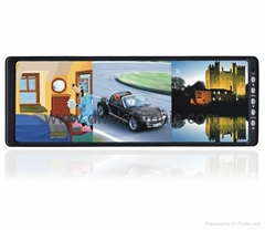 Rearview mirror with 4 ways video input