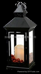 Candle with black lantern