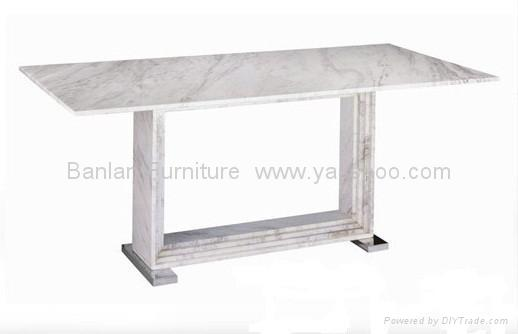 Modern Natural Marble Dining Table With Stainless Steel Base DT1114 Yassh