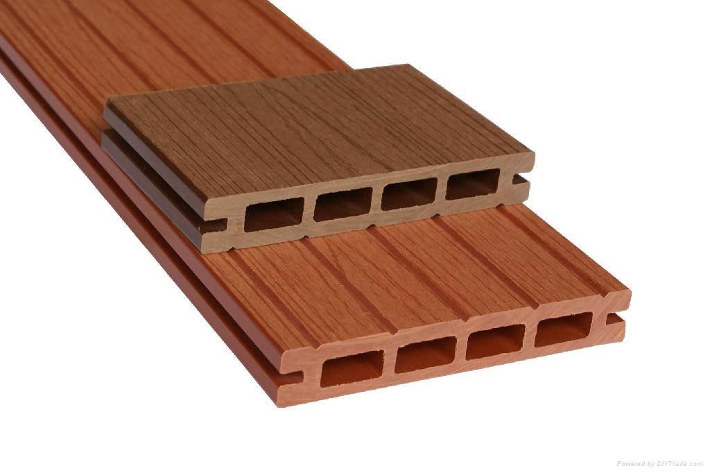 Wpc outdoor wood plastic flooring k25 150 guofeng for Plastic laminate flooring