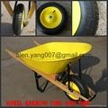 wood handle wheelbarrow