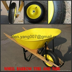 wood handle wheelbarrow
