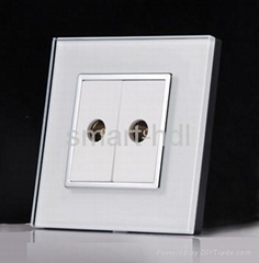 Outlet Socket, Double TV/RF Coaxial RG6