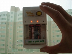 Solar Battery Charger 0.5W-- for 4pcs of AA/AAA batteries