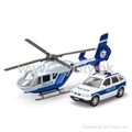 1:43 die-cast model emergency car and helicopter play set 2