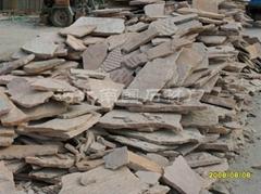 粉红色板岩粉砂岩碎拼乱型广场砖