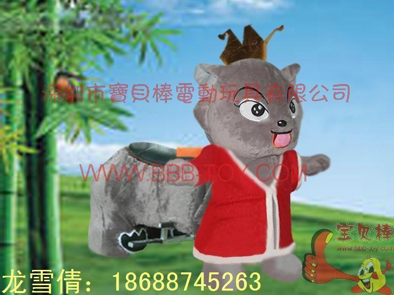 仿真动物电动车,毛绒玩具电动车 2