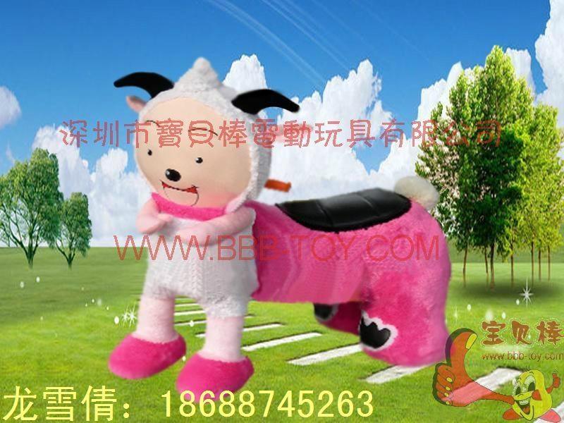 仿真动物电动车,毛绒玩具电动车 4