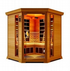 corner deluxe infrared sauna room,fir sauna cabin