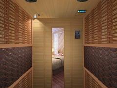 Tourmaline dry sauna room