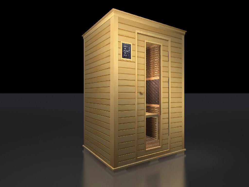 Tourmaline dry sauna room tml 02 health tech china for Cost of building a home sauna