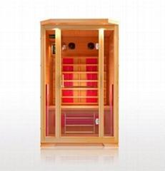 2 person full glass infrared sauna