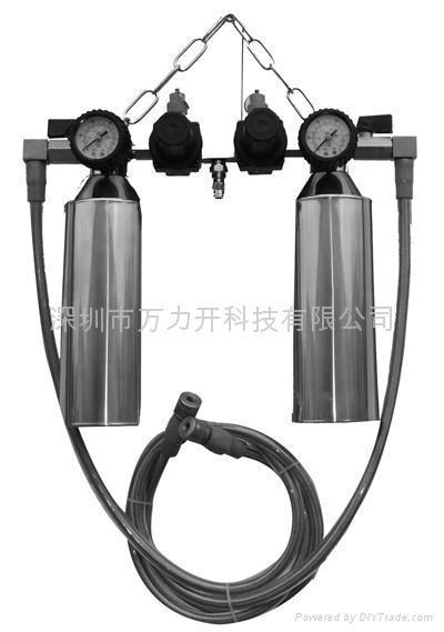 万力开AFSC226双吊瓶式燃油免拆清洗机 1