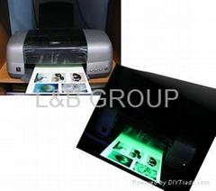 Glow photo paper