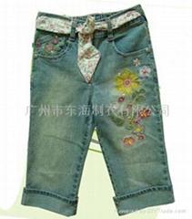 精美外貿童裝牛仔褲(承接外貿加工訂單)