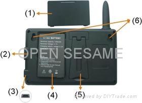 2.4GHz Digital wireless peephole viewer 3