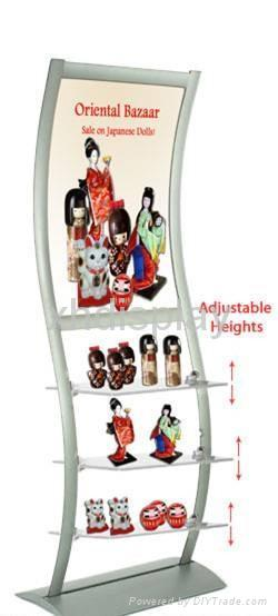 Merchandise Display: Includes Image Holder & Frosted She  es 1