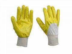 Heavy duty nitrile coated glove