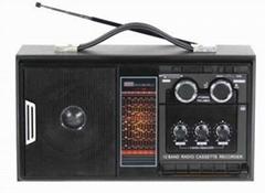 WOODEN RADIO CASSETTE RECORDER