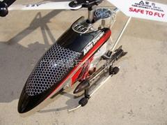 遥控直升机超合金带导弹彩灯