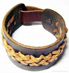 Leather Bracelet, Leather Bracelets, Stainless Steel Jewelry, Leather Wristband