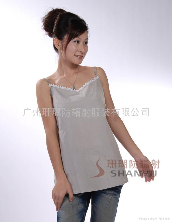銀纖維防輻射弔帶衫專業供應商-廣州珊瑚SHE006,適合夏季 1