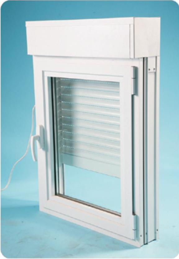 Double glazed window combined to roller shutter eco for Buy new construction windows online
